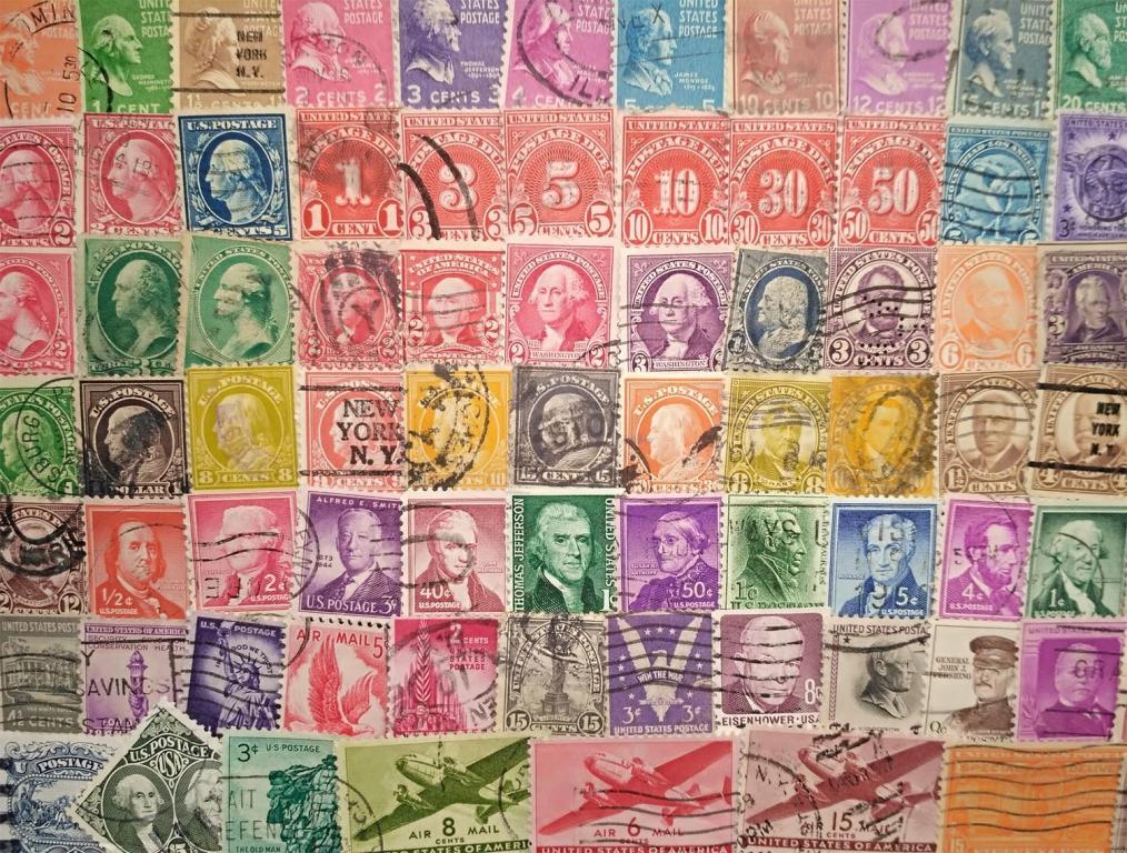 100 старинных марок США