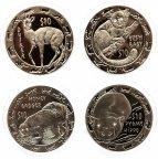 10 долларов 2008 г.Сьерра-Леоне-Набор Ночные животные(4 монеты). Серебро(чернение)