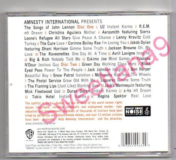 JOHN LENNON - MAKE SOME NOISE - THE AMNESTY INTERNATIONAL CAMPAIGN TO SAVE DARFUR 2CD