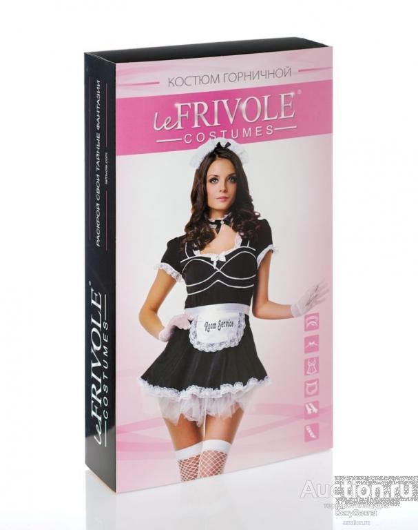 Le Frivole Костюм горничной отеля (L-XL / черный с белым)