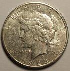 """1 Доллар 1923 год. США Либерти. """"Мы верим в Бога"""". Серебро. Хорошая сохранность!"""