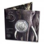 Серебряная монета ЮАР Слон Большая пятерка 2019г.