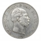 1 талер 1862 год. А. Германия. серебро 900. 18.4 грамма.