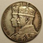 Медаль в честь 25-летия правления Георга V и Королевы Марии, Графство Мидлсбро 1935 год. Серебро!