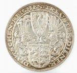 5 марок медальный тип 1927 год. Гинденбург. Германия Веймарская. Серебро, 900 пр. R!!! UNC.
