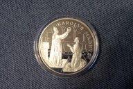 """10 динеров. Андорра 1996 г. """"Коронация Карла Великого"""". СЕРЕБРО. ПРУФ. Смотри описание."""