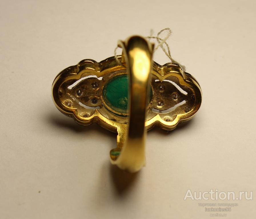 Золотое кольцо с полудрагоценными камнями. Золото 750 пробы. Вес: 8.1 грамм.