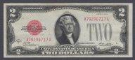 США, 2 доллара, 1928 A, БОЛЬШАЯ РЕДКОСТЬ! блок A-A, красная печать, aUNC
