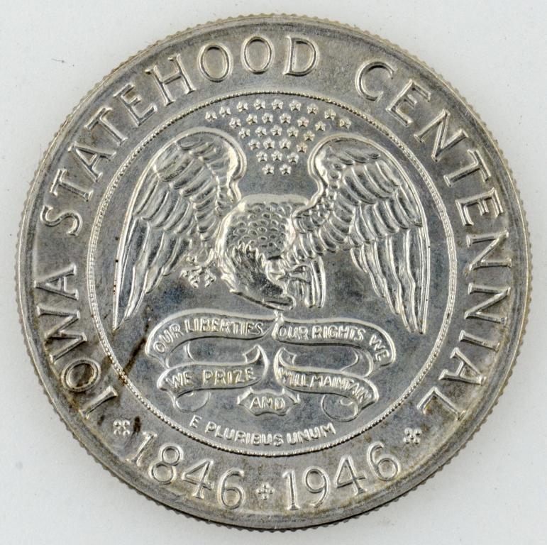 50 центов/пол-доллара 1946 год. Half dollar (50 cents). Серебро. R.