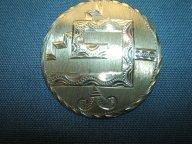 Винтажная серебряная мексиканская брошь