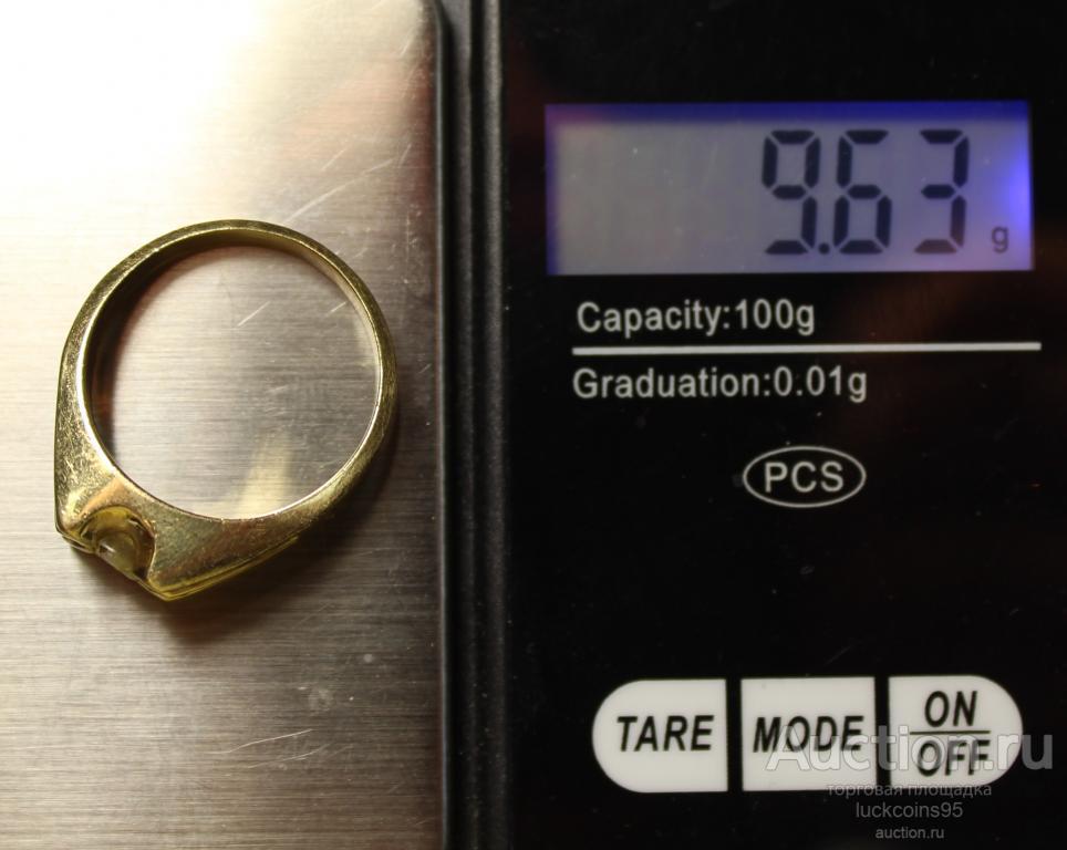 Золотое кольцо с бриллиантами. 14 Карат. Золото 585 пробы. Вес: 9.63 грамма.