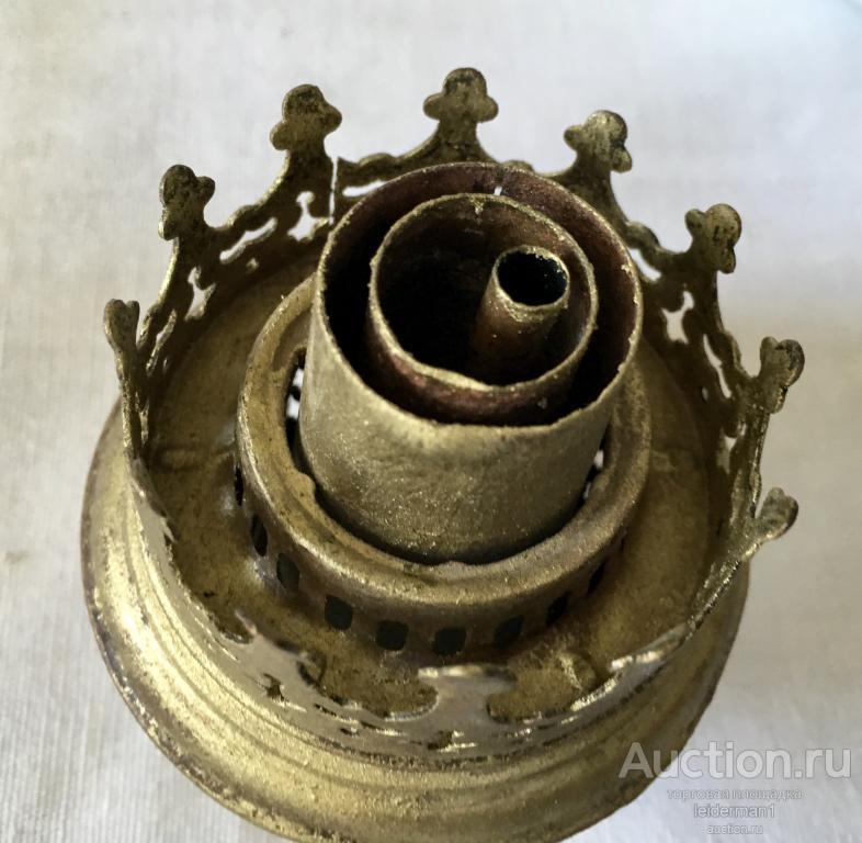 Стар керосиновая лампа Латунь Стекло ГЕРМАНИЯ 43 см 0,6 кг