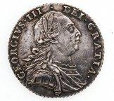 1 шиллинг 1787 Георг II. Великобритания. Серебро 925! 6 грамм.