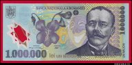 1000000 (1 миллион) леев 2003 Румыния полимер превосходные UNC !