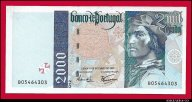 2000 эскудо 1997 Португалия превосходные UNC !