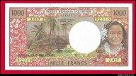 1000 франков 1992 Французские заморские территории превосходные UNC !