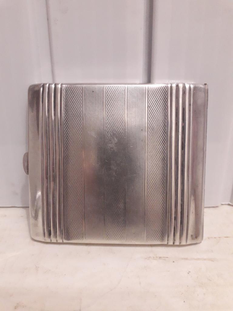 Портсигар серебрянный .
