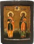 Икона Святые Косма и Дамиан. Возможно Мстера.