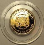 25 фунтов 1972 год. 25-я годовщина свадьбы Елизаветы II. О-в Джерси. Золото 917 - 11.90 грамм. ПРУФ!