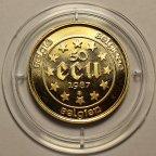 50 экю 1987 год. Балдуин I - Иерусалимский король. Бельгия. Золото 900 - 17.28 грамм. ПРУФ!