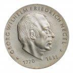 10 марок 1981 год. Георг Гегель. Г.Д.Р. Серебро 500. 17 грамм. Редкая