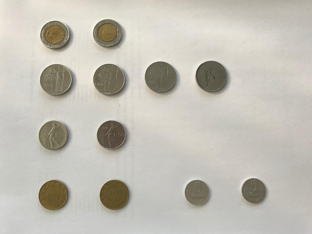 Италия: подборка монет 1960-1990-х годов. С 1 РУБЛЯ!!!!