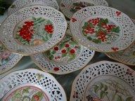 Набор из 6 тарелок  прорезного фарфора. Schumann. Германия 1960-е гг.