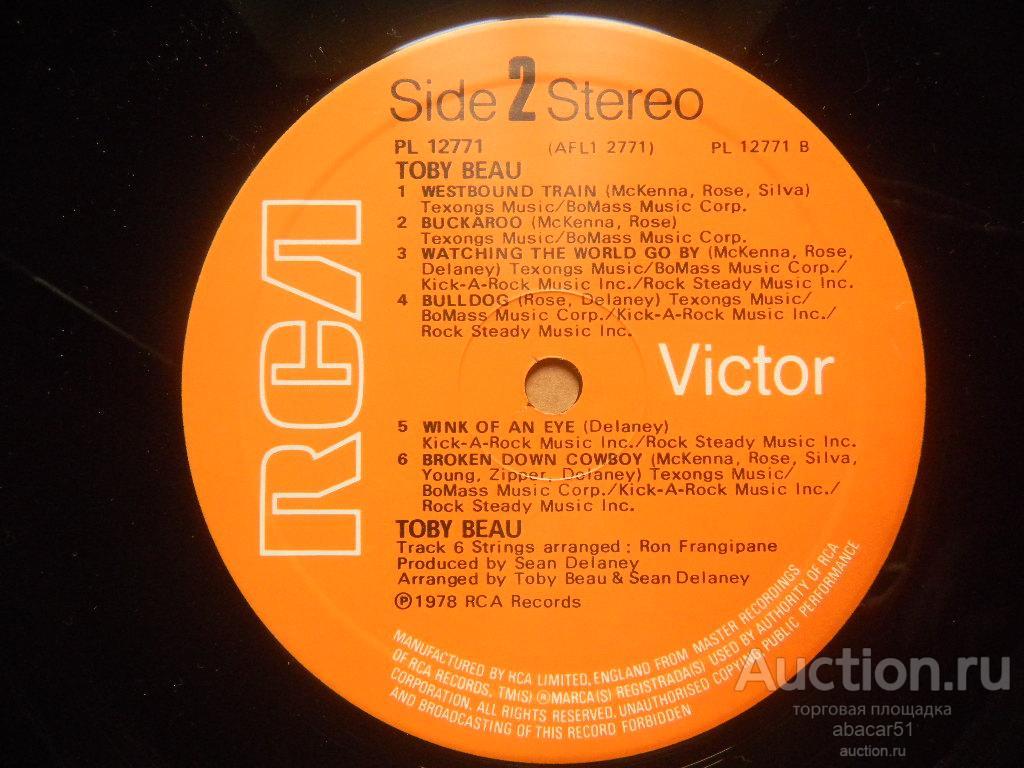TOBY BEAU Toby Beau UK. RCA IN/SL 1978 год LP ORIGINAL EX+/EX+.