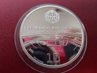 Португалия 2006 ПРУФ- 10 евро, футбол чемпионат мира в ФРГ  .ОРИГИНАЛ !!СЕРЕБРО . / Э 478