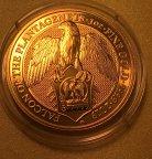 Золотая монета Великобритании 100 фунтов 2019, Сокол Плантагенетов, AU999, 31,1 г, С РУБЛЯ!