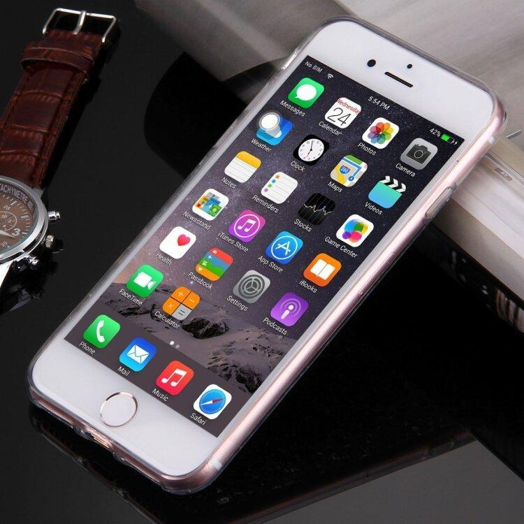 Силиконовый чехол для iPhone 8 / 7 с блестящими узорами под платину (Silver)