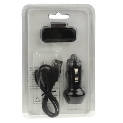 FM трансмиттер для iPhone 4/4S, iPad, 3GS, iPod черный (разъем 30 pin)