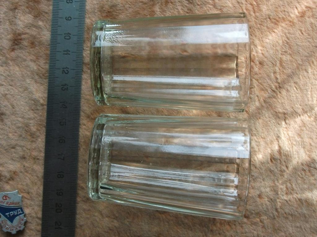 Стопка рюмка набор 2шт гранёная стекло Уршельский завод СССР