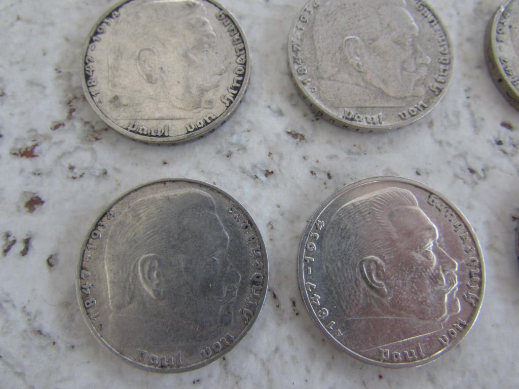 коллекция 12 монет без повторов монеты 2 рейхсмарка Гинденбург марка 3 рейх с 1 рубля серебро монета