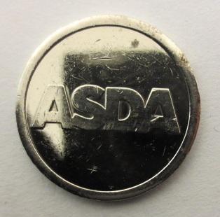 Жетон ASDA парковочный одноименной сети супермаркетов