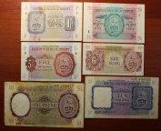 1, 2/6, 5, 10 Шиллингов, 6 Пенсов и 1 Фунт 1943 год. Вооруженные силы Великобритании. 6 шт.Редкость!