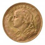 20 франков 1935 год . Швейцария. . Золото 900! вес:6,48 грамм