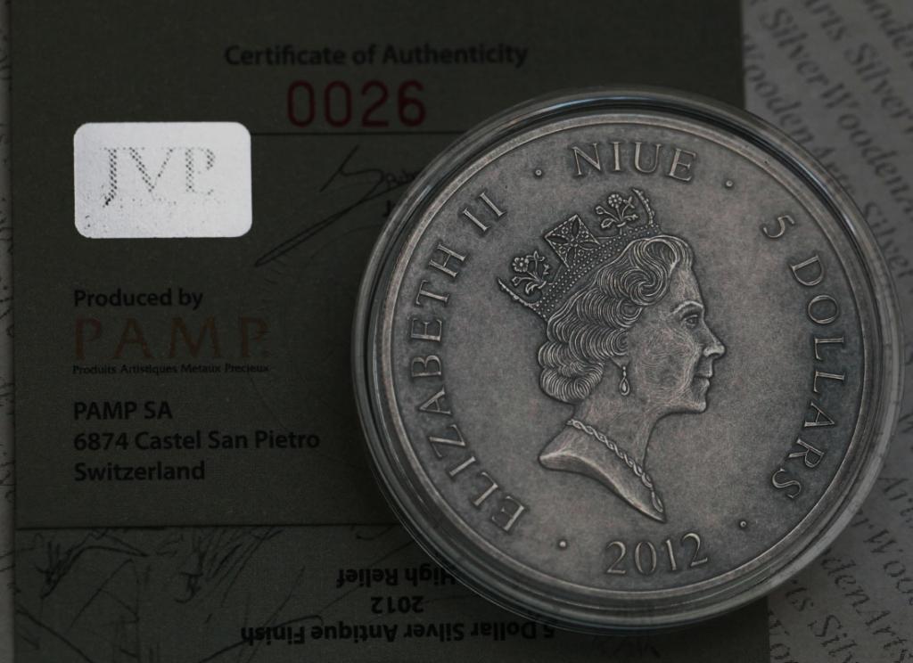 5$ НИУЭ 2012 Серебро Ag .999 Война 1812 года Кутузов Наполеон Распродажа См. другие лоты