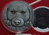 Камерун 3000 франков 2018 Год собаки серебро 3 Oz Silver Редкая 500 экз. Распродажа См. другие лоты