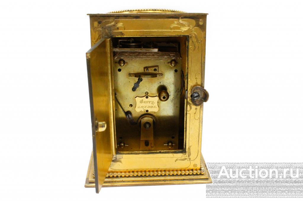 Часы будуарные. Англия, начало XIX века. Бронза, позолота, эмаль. Деколь с прорисовкой...