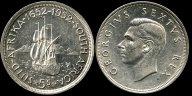 5 шиллингов 1952г. Великобритания.Георг VI.ЮАР.