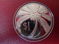 Западное Самоа 1 тала 1974 ПРУФ. Малиетоа Танумафили II Пальма. ОРИГИНАЛ СЕРЕБРО / Ю 343