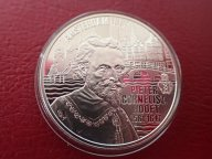 Нидерланды 20 евро 1997 ПРУФ. Питер Хофт  . ОРИГИНАЛ СЕРЕБРО / Ю 348