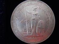 ОЧЕНЬ РЕДКАЯ КРУПНАЯ МОНЕТА 1 ТОРГОВЫЙ ДОЛЛАР ВЕЛИКОБРИТАНИЯ 1907 ГОД СЕРЕБРО ВЕЛИКОЛЕПНЫЙ СОХРАН!!!