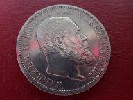 3 марки 1911 ( F ) ВЮРТЕМБЕРГ. Германия   .ОРИГИНАЛ ! СЕРЕБРО ! / Ю 570