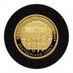 Медаль Danke Deutschland. FIFA. Германия.  Золото 585 проба. 3.5 гр.