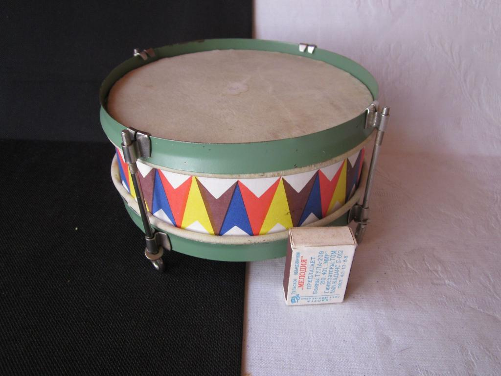 (201-3-В) Игрушка детская барабан времен СССР
