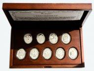 """Набор монет 1 доллар 2012\2013 год. """"Яйца Фаберже"""" 9 штук! Серебро 925 проба. Ниуэ."""