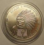 1 доллар 2015 год. Буффало. Си́у - индейский народ группы сиу на севере США и юге Канады. Серебро!