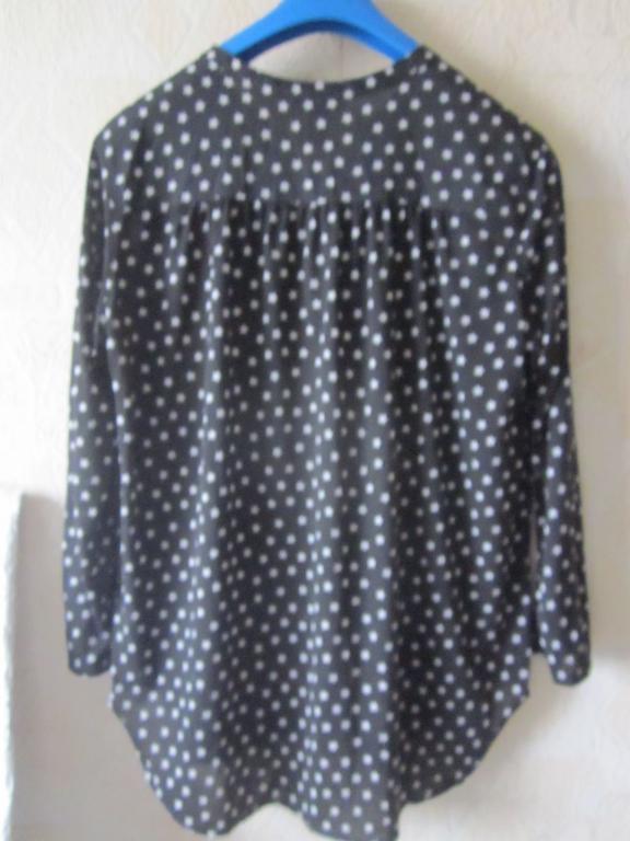(177-41-В)  Блузка рубашка  горох звезды 52-54